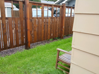 6' Stained Cedar Spindle Fence